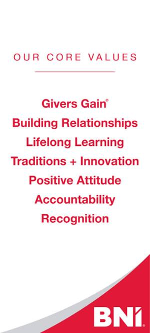 BNI's Core Values